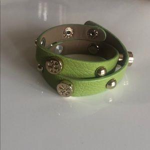 "Logo wrap bracelet new no tag up to 7"" fit"